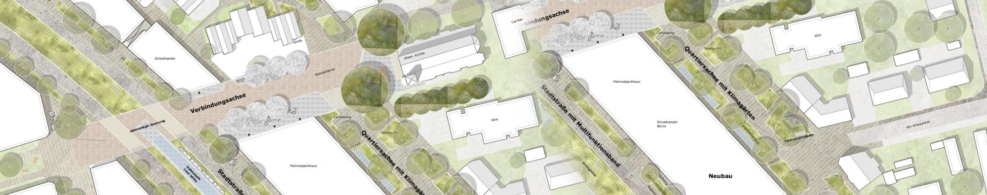 Entwürfe für die Planungsbereiche